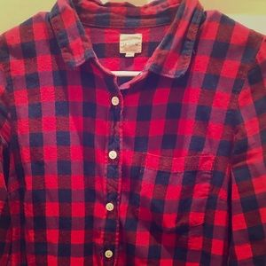 Checked flannel J Crew shirt